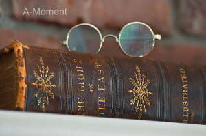 Vintage Still Life Book and Reading Glasses