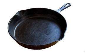 Cast Iron SKillet Isolated on White